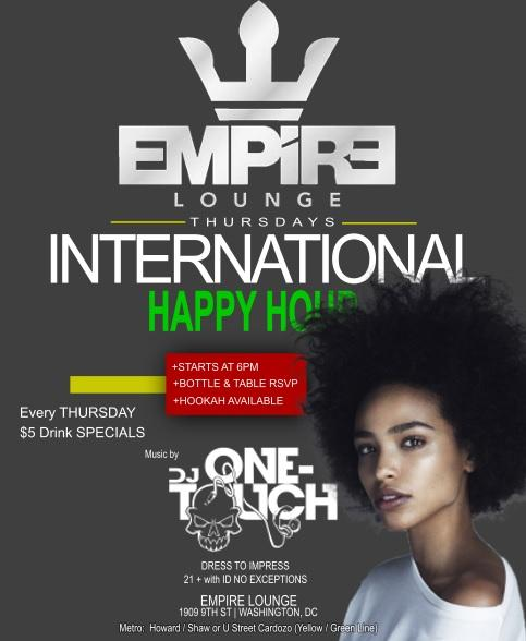 INTERNATIONAL THURSDAYS | HAPPY HOUR
