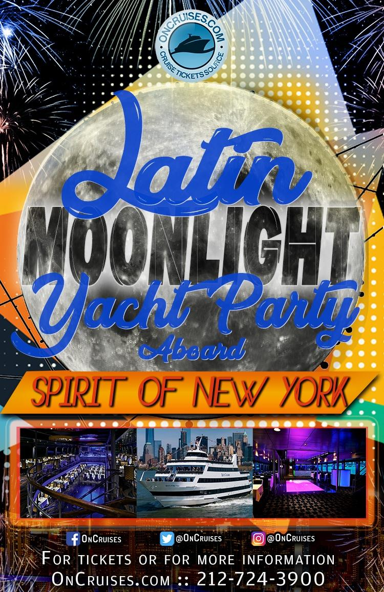 Latin Moonlight Cruise Aboard the Spirit of New York