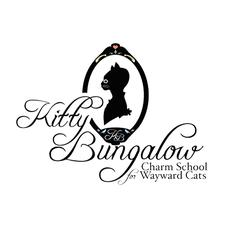 Kitty Bungalow Charm School for Wayward Cats logo
