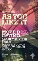 As You Like It w/ Move D B2B Optimo, Jackmaster,...