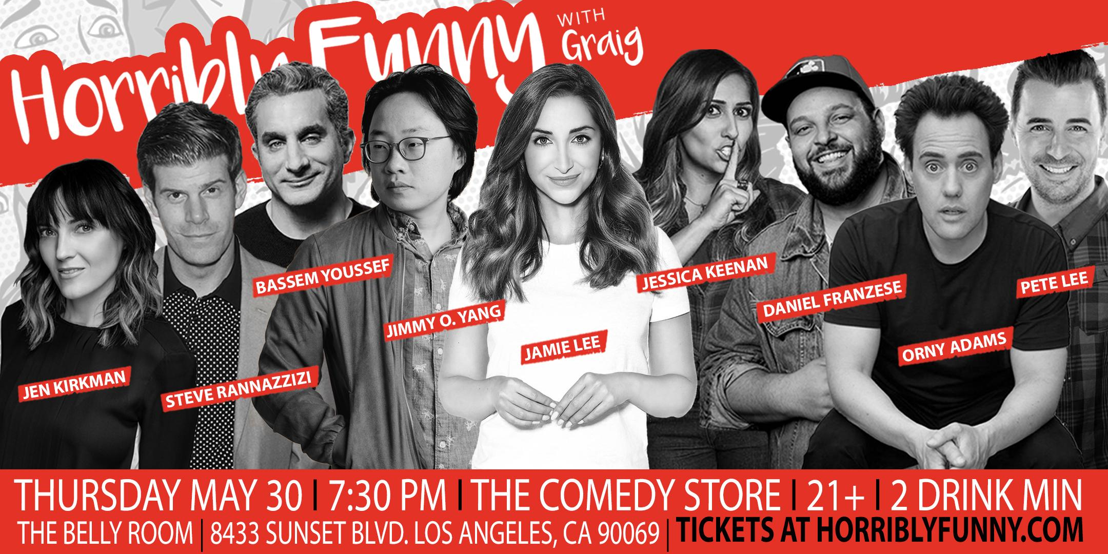Horribly Funny- Bassem Youssef, Steve Rannazzisi, Jamie Lee, Orny Adams