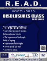 R.E.A.D. Disclosures Class by Joe Ramos