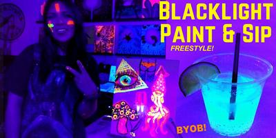 Super Blacklight Freestyle Painting During Artwalk Home Remodeling Inspirations Genioncuboardxyz
