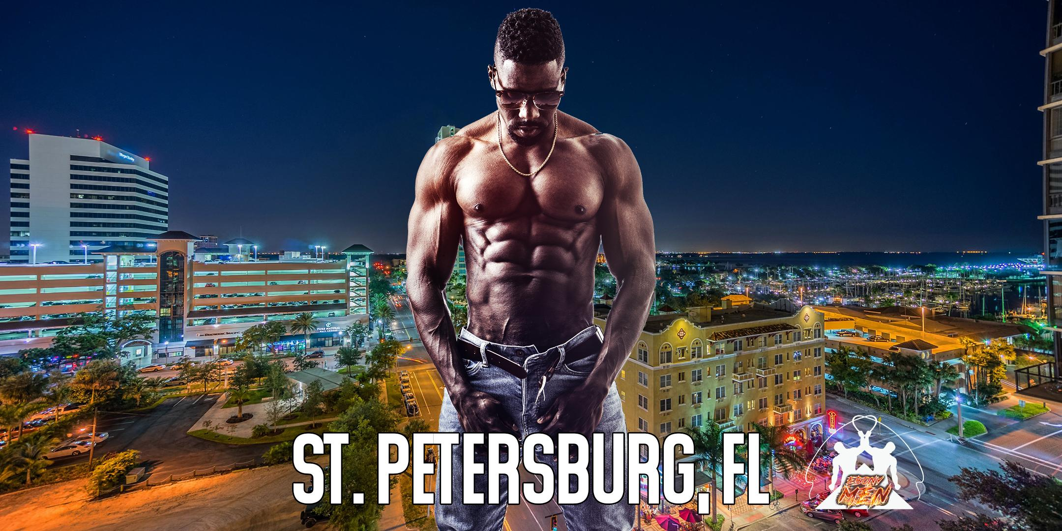 Ebony Men Black Male Revue Strip Clubs & Black Male Strippers St Petersburg, FL 8-10 PM