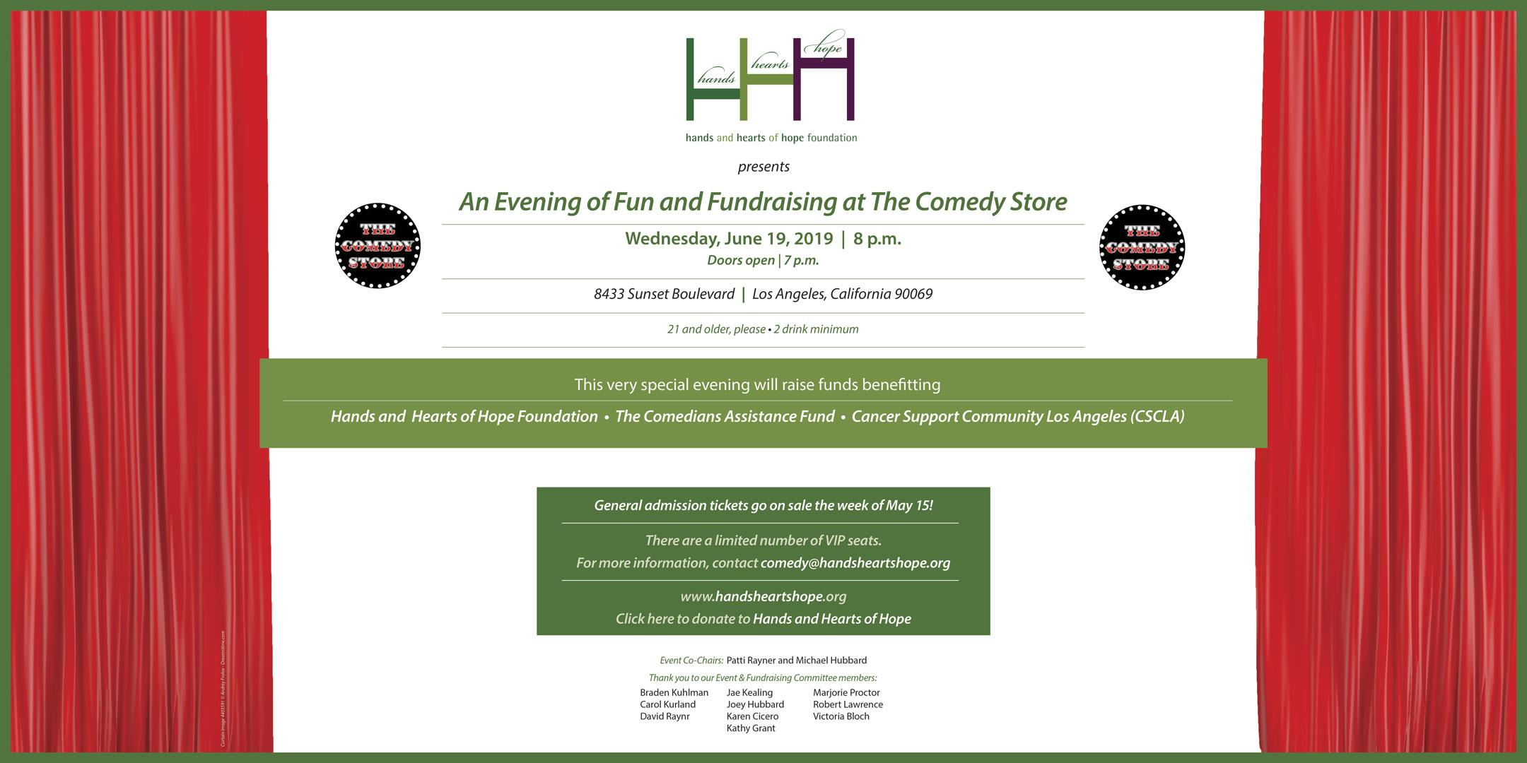 EVENING OF FUN AND FUNDRAISING Hosted by TOMMY DAVIDSON