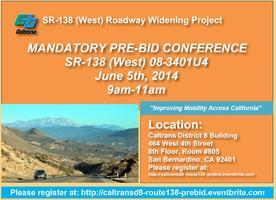 Mandarory Pre-Bid Meeting SR-138 (West) 08-3401U4