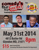 Comedy's Best Kept Secret Tour Glyndon VFC