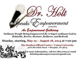 Dr. Holt Speaks Empowerment