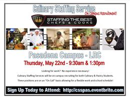 On-Campus Recruitment:  Culinary Staffing Services