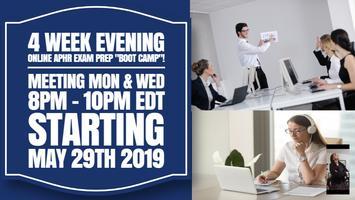 "4 Week Live Evening Online aPHR Exam Prep ""Boot Camp""..."