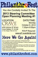 PhilanthroFest 2013 Steering Committee Meeting #1