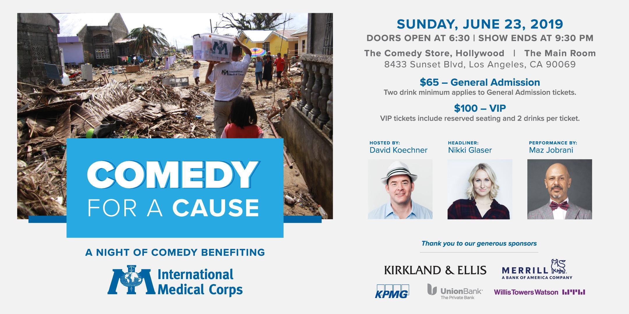 Comedy for a Cause to Benefit International Medical Corp