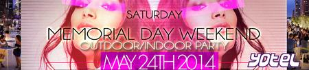 Memorial Day Weekend Yotel Terrace Outdoor Party NYC