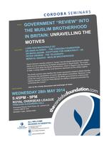 "Seminar: Government ""Review"" of the Muslim Brotherhood..."