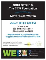 **NEW DATE JUNE 7TH** SoulCycle With Mayor Setti...