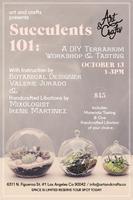 Succulents 101: A DIY Terrarium Workshop & Tasting