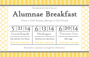 2014 Muskegon Girl Scouts Alumnae Breakfast