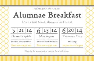 2014 Traverse City Girl Scouts Alumnae Brunch