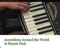 Accordions Around the World in Bryant Park