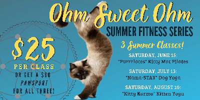 9f9f36d7262882 Ohm Sweet Ohm Summer Fitness Series at Animal Friends of the Valleys  Tickets, Multiple Dates | Eventbrite