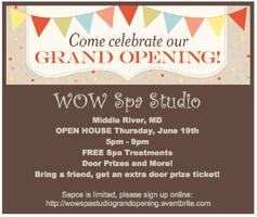 Grand Opening WOW Spa Studio