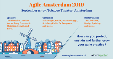 Agile Amsterdam 2019 | Sept 25-27 | Agile Event & optional