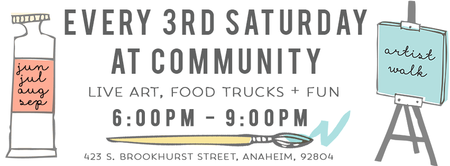 Artist Walk & Food Truck Nights: 3rd Saturdays