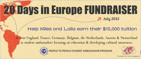 20 Days In Europe Fundraiser Boat Ride