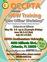 OCCPTA  New Officer Workshop  aka NOW Training