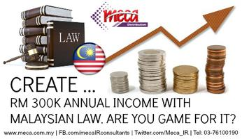 Generate RM300,000 Yearly Income with Malaysian Law by...