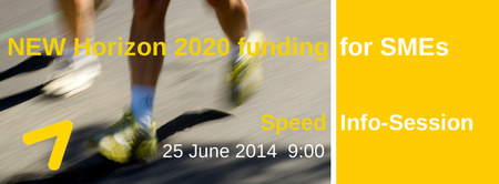 NEW Horizon 2020 funding for SMEs - Speed Info Session