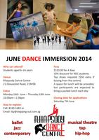 Rhapsody Dance Centre June Holiday Camp