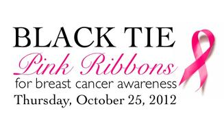 Black Tie Pink Ribbons for Breast Cancer Awareness