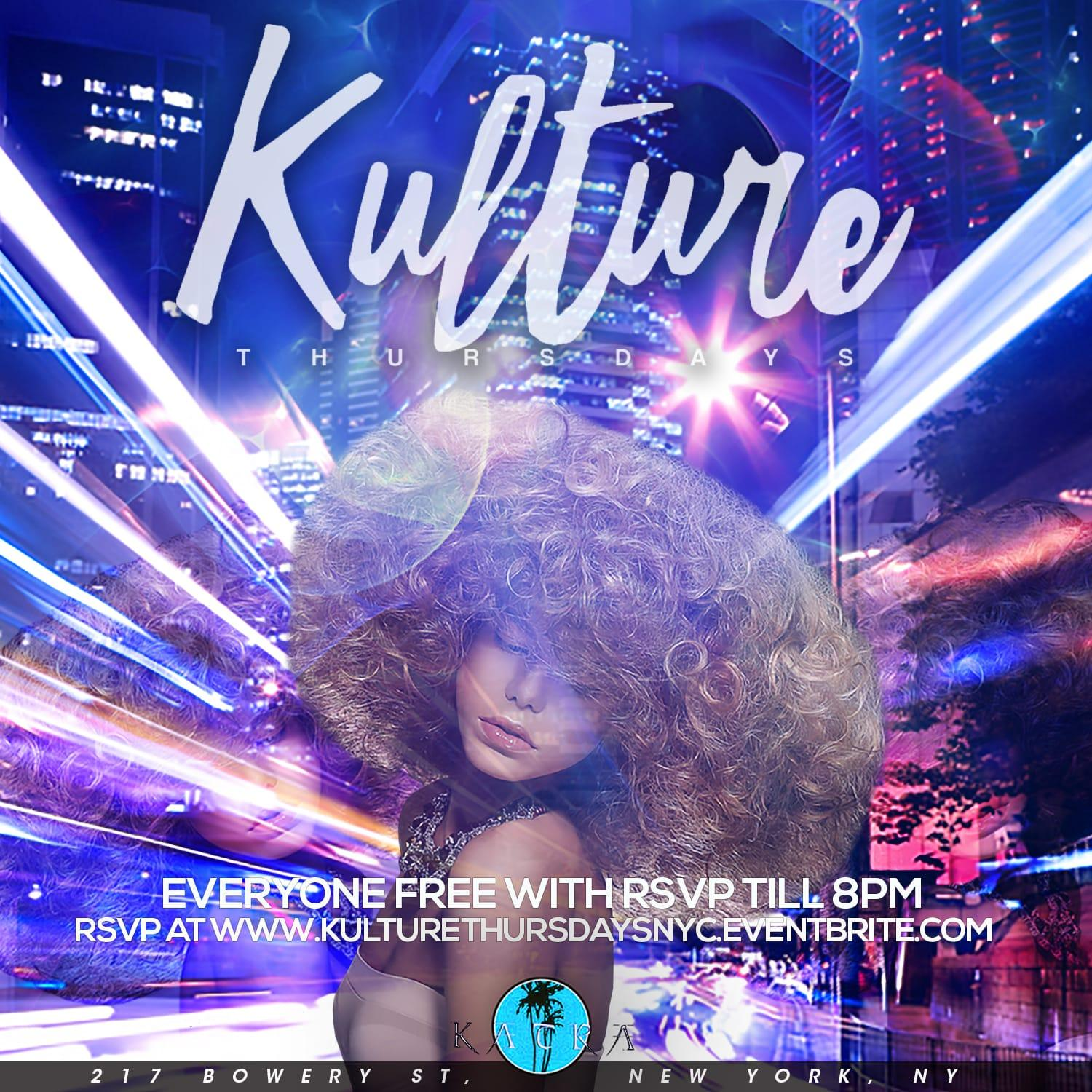 Kulture Thursdays | The 90/2000 Caribbean Afterwork | Complimentary Drinks