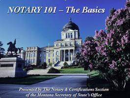 Notary 101 - The Basics