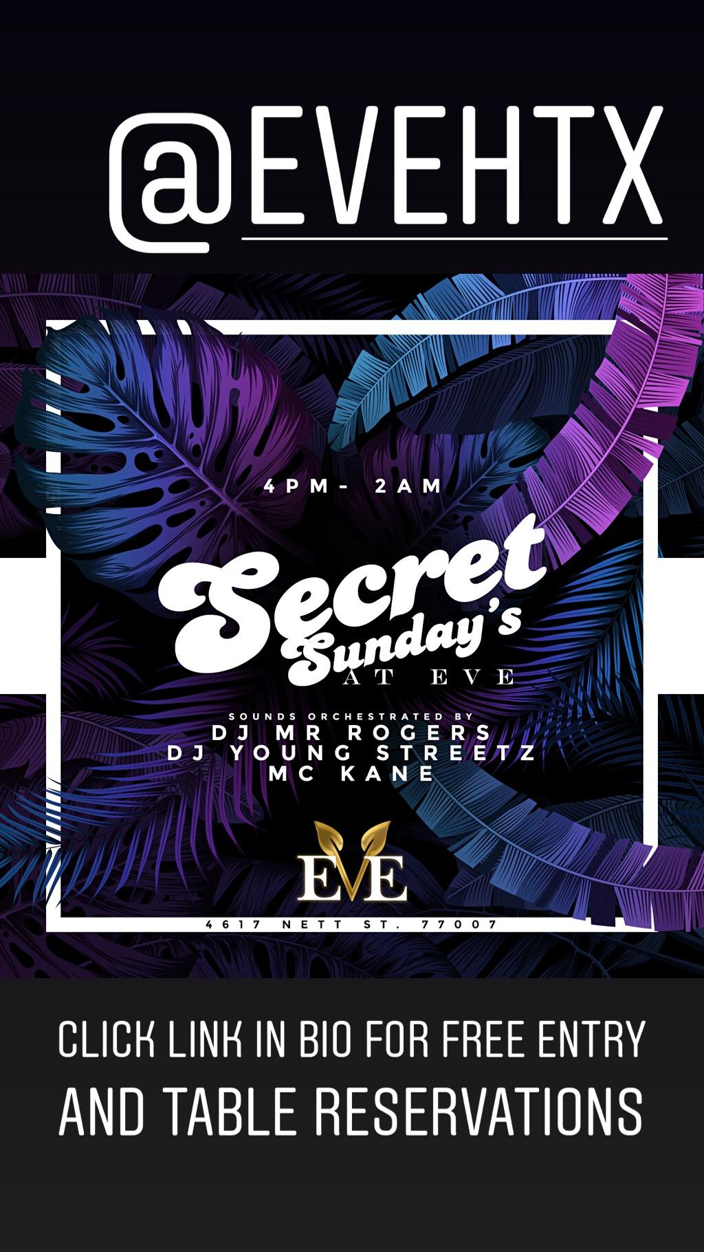 EvE SECRET SUNDAYS (CLOSED)