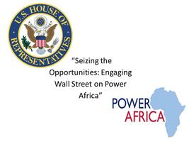 Engaging Wall Street on Power Africa