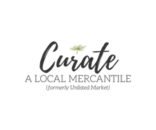 Curate: A Local Mercantile (formerly Unlisted Market) logo