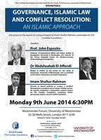 Roundtable: Governance, Islamic Law and Conflict...