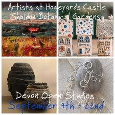 Creative sessions with Artists at Homeyards Castle ( Open Studios at Shaldon Botanical Gardens)  logo