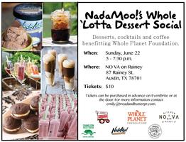 NadaMoo!'s Whole 'Lotta Dessert Social