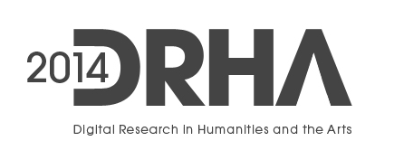 DRHA2014 Conference [Digital Research in the Humanities & Arts] logo