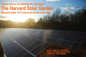 Harvard Solar Garden Ribbon Cutting and Grand Opening