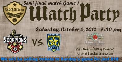 Semifinal Watch Party:Scorpions vs Minnesota