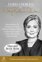 Hillary Rodham Clinton signs Hard Choices