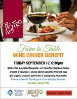 Bistro 185 Farm to Table Wine Dinner Benefit