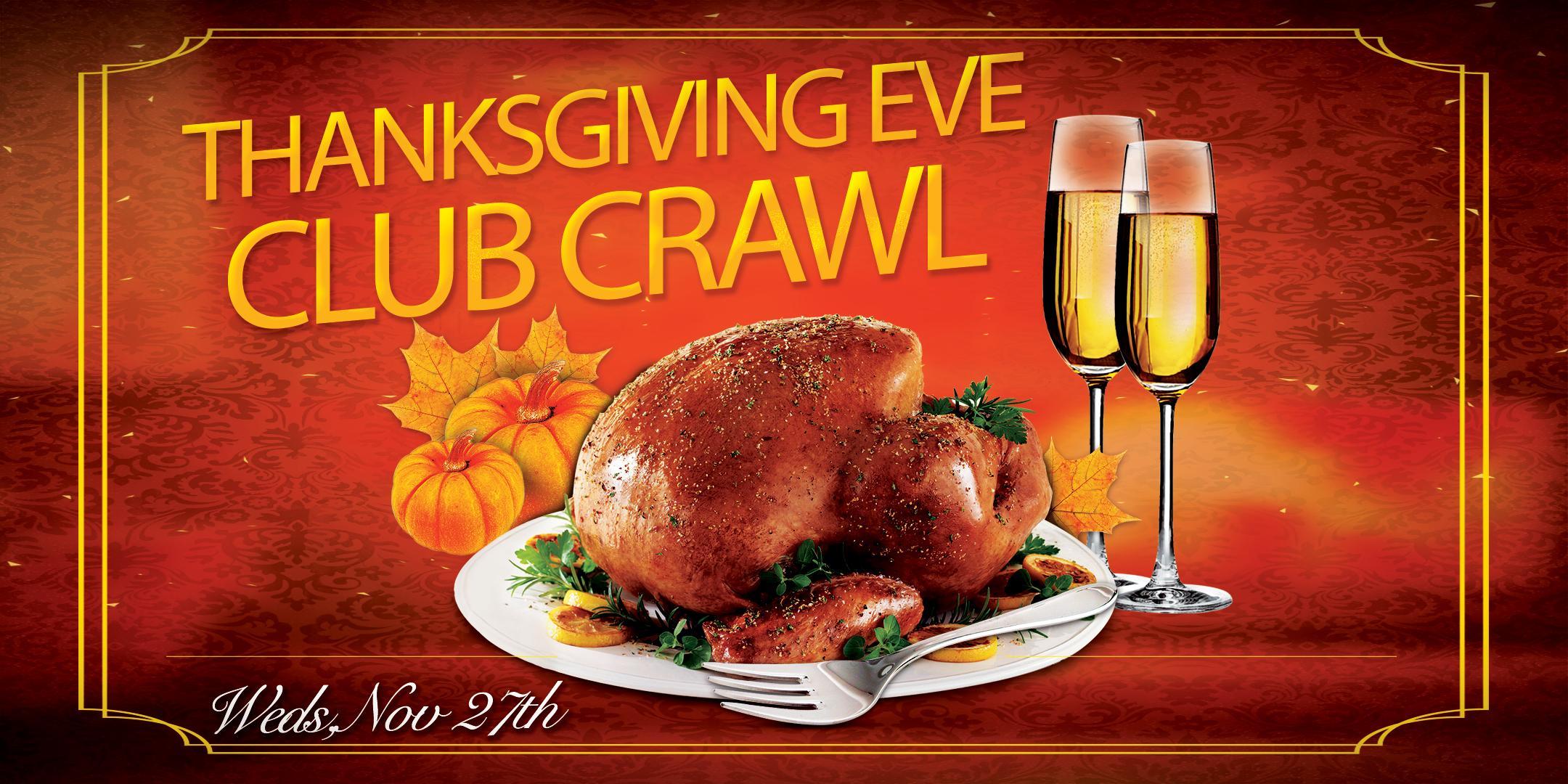 San Diego Thanksgiving Eve Bar and Club Crawl