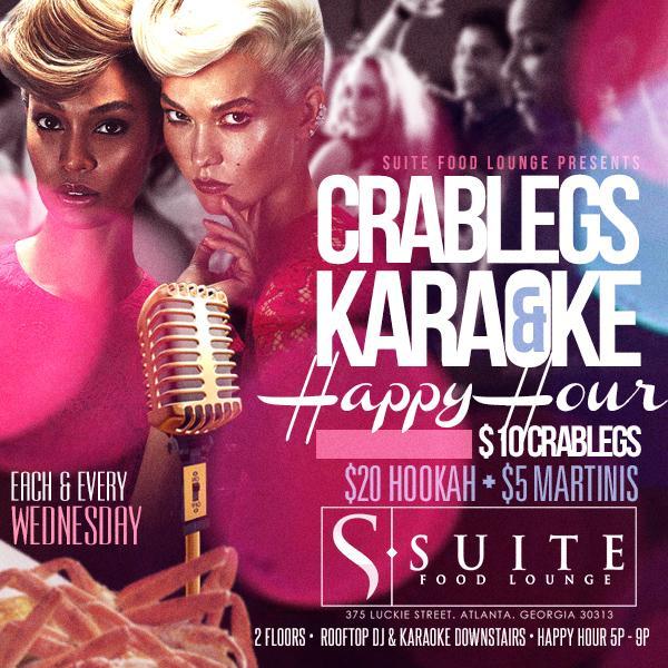 Crablegs and Karaoke Happy Hour
