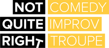 Not Quite Right Comedy Improv Troupe logo