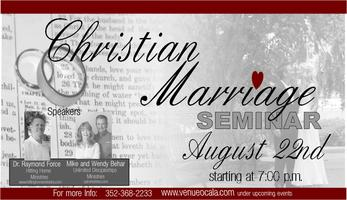 Christian Marriage Retreat Ocala/Orlando Fl Area